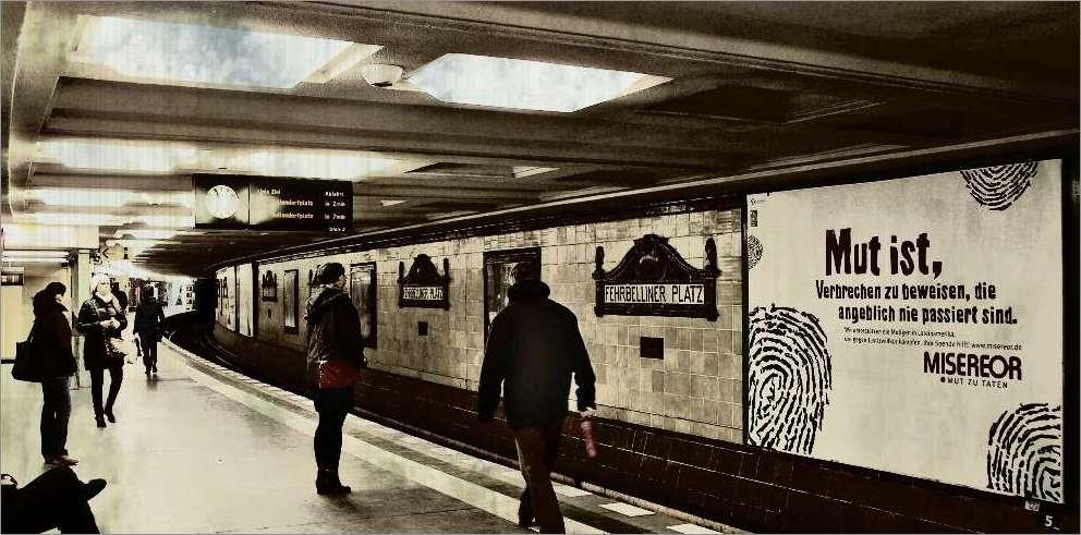 Vorsicht an der Bahnsteigkante!