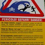 Vorsicht, Gefahr !