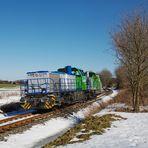 Vossloh Lokomotiven auf Testfahrt.
