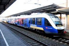 """VT510 """"10 Jahre Nordwestbahn"""" von vorne."""