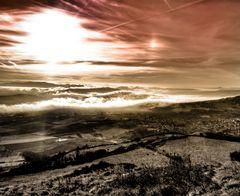 Vue de Gergovie en Auvergne