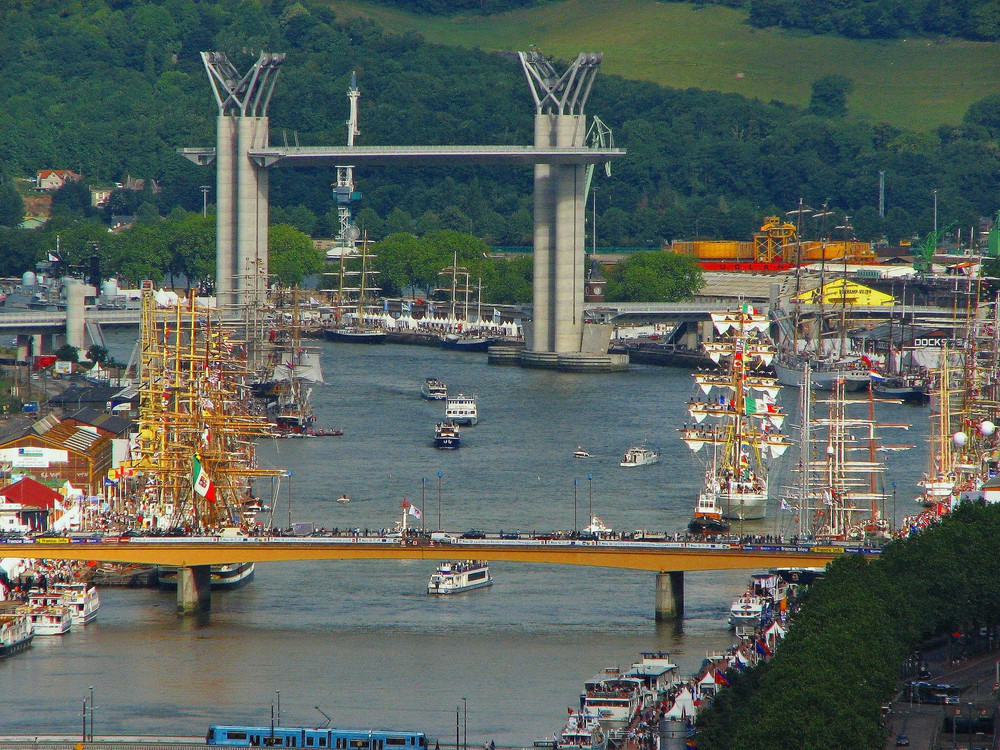 vue de l'armada Rouen 2008