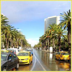 vue de l'avenue Mohammed V de Tunis