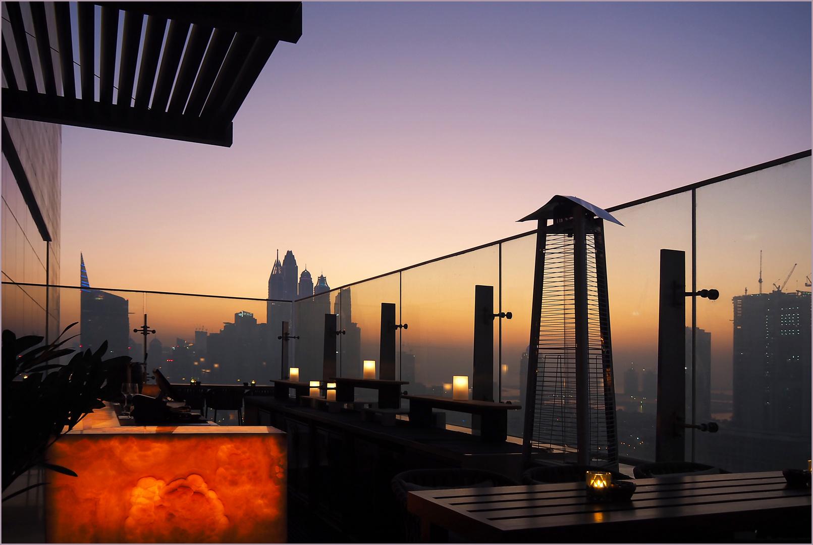 Vue depuis le bar panoramique