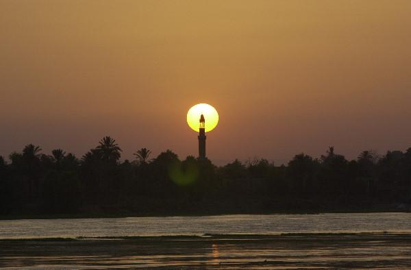 Vue depuis le Nil en Egypte