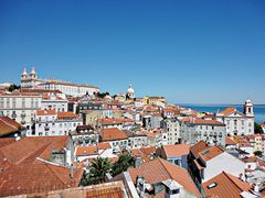 vue depuis une colline de Lisbonne