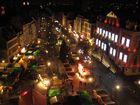 Vue du marché de Noël de la grande roue