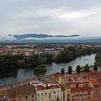 Vue générale sur Tortosa et l' Èbre…