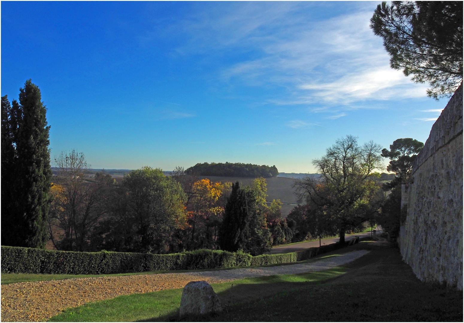 Vue sur la campagne à partir de Terraube  --  Gers