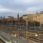 Vue sur la ville, du pont de la gare de Limoges-Bénédictins