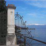 Vue sur le Lac de Garde et le Monte Baldo à Salo