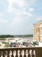 vue sur le parc du chateau de Versailles