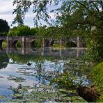 Vue sur le pont roman et la Gélise  --  Barbaste (Lot-et-Garonne)