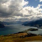 Vue sur Queenstown dans l'île du sud de la Nouvelle -Zélande