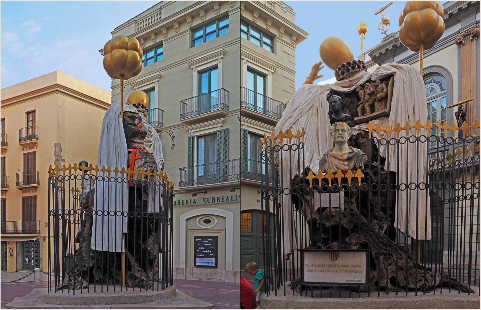 Vues du monument à la gloire de Francesc Pujols...