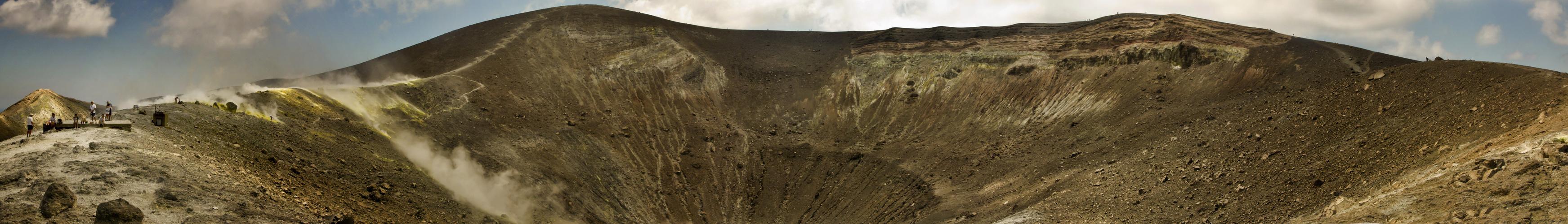 Vulcano-Kraterpanorama