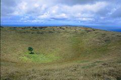 Vulkankrater auf Rapa Nui