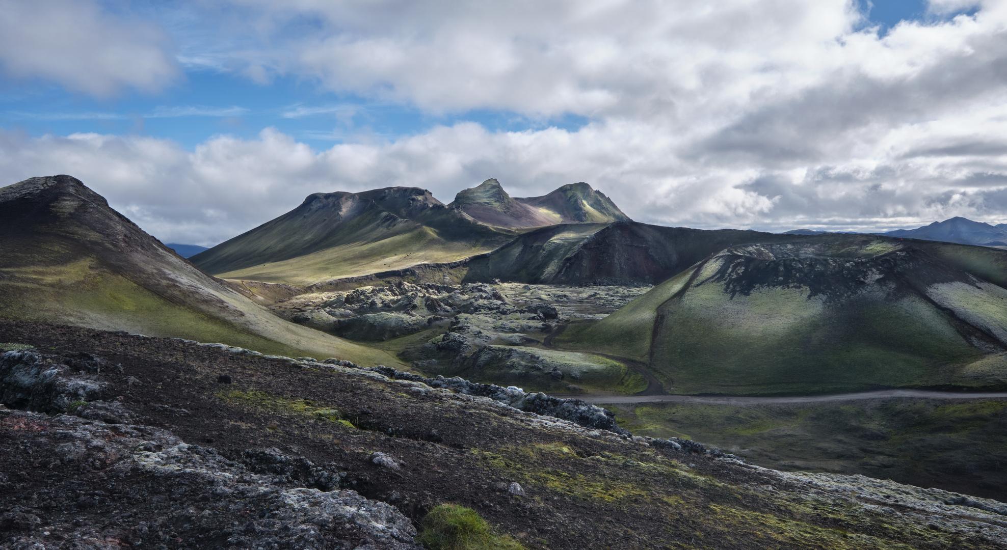 Vulkanlandschaft im Fjallabak