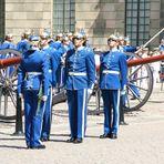 Wachablösung vor dem Königsschloss in Stockholm