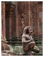 Wächter im Banteay Srey - Siem Reap, Kambodscha