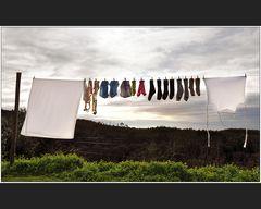 Wäsche mit Aussicht