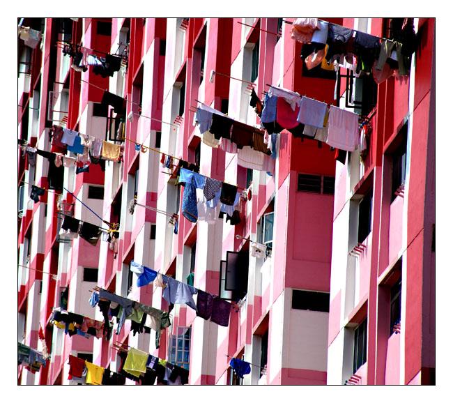 Wäsche trocknen auf Singapurianisch
