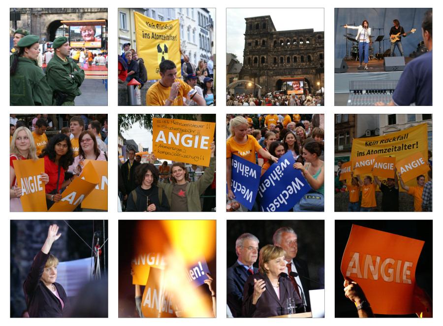 Wahlkampf - Angela Merkel