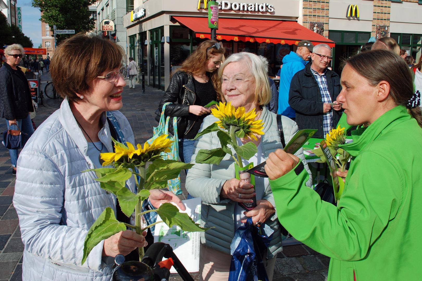 Wahlkampf der Grünen in Rostock