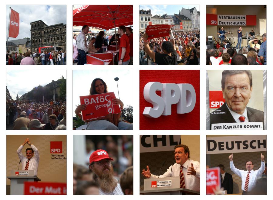 Wahlkampf - Gerhard Schröder