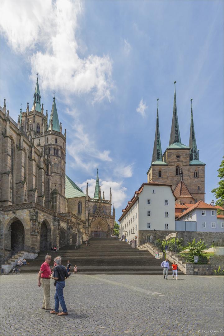 Wahrzeichen der Stadt Erfurt auf dem Domberg