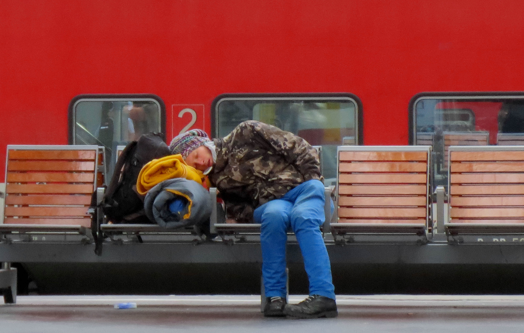 Waiting for a train....