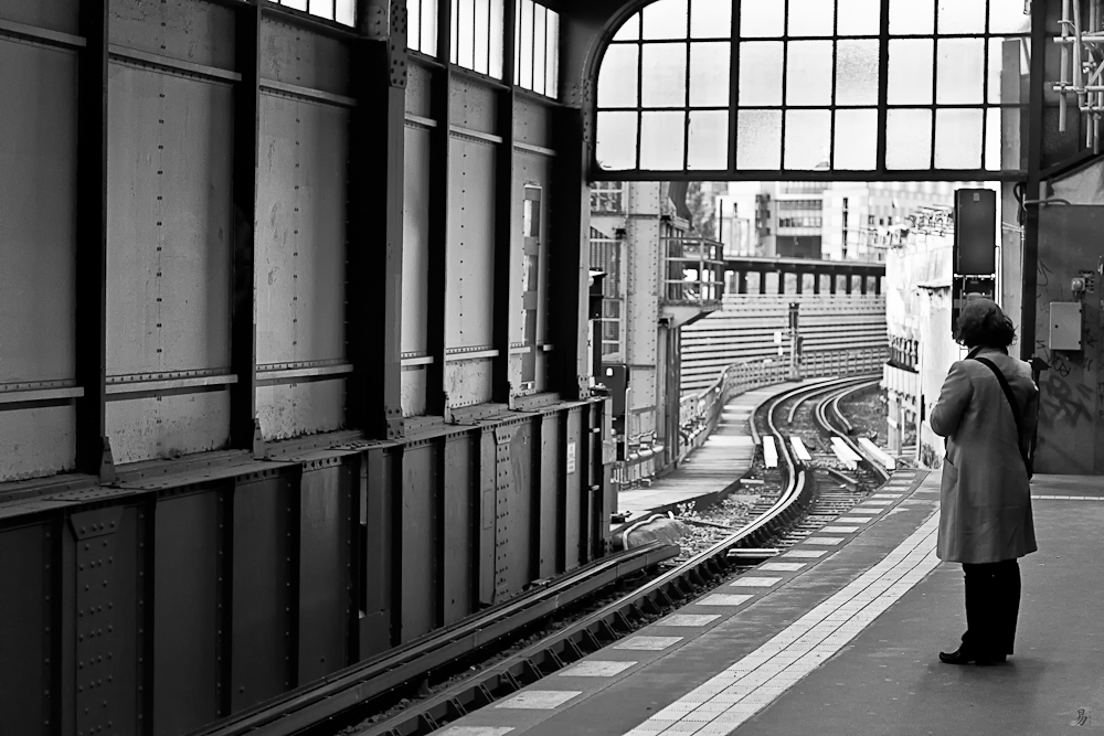 waiting for a train to come