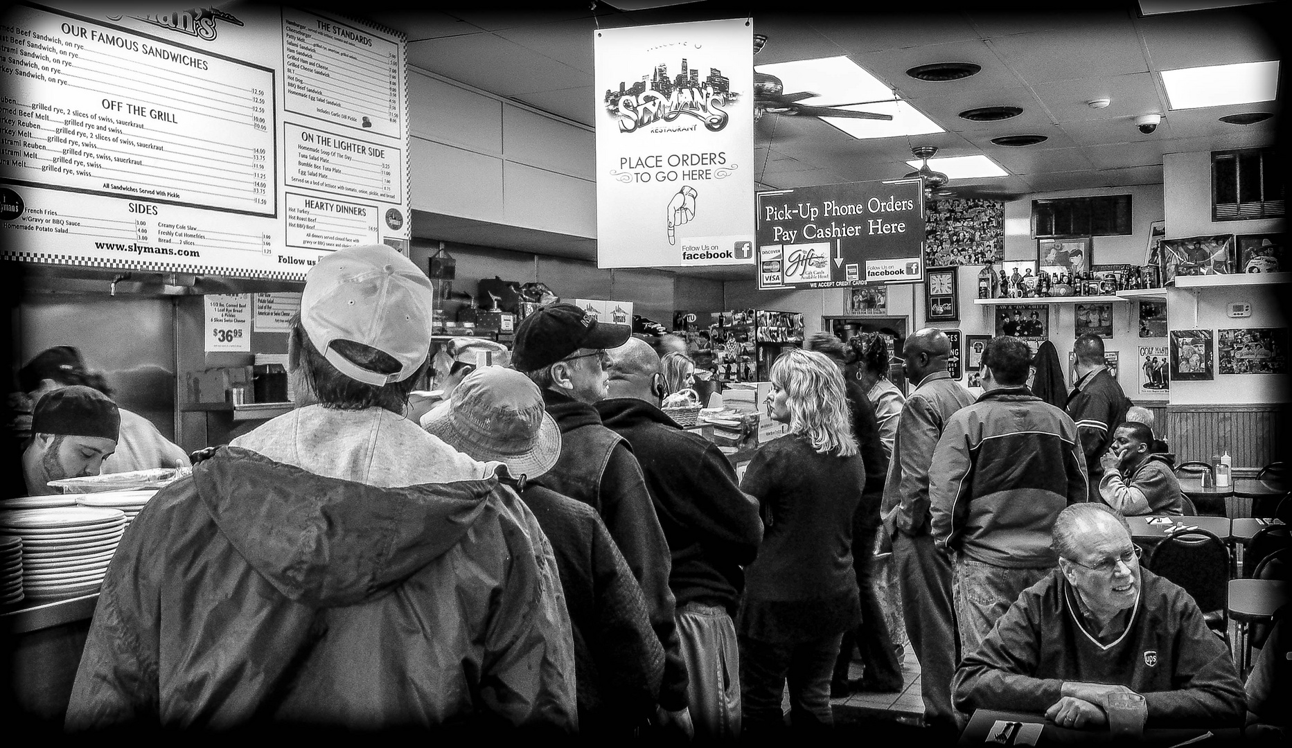 Waiting in Line at Slyman's Deli