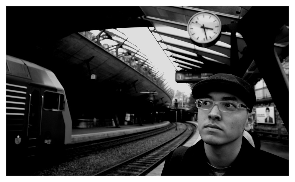 waiting on a train...