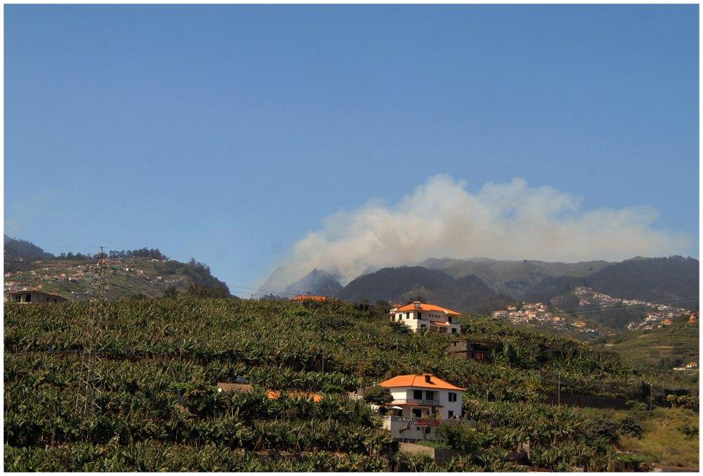 Waldbrände auf Madeira