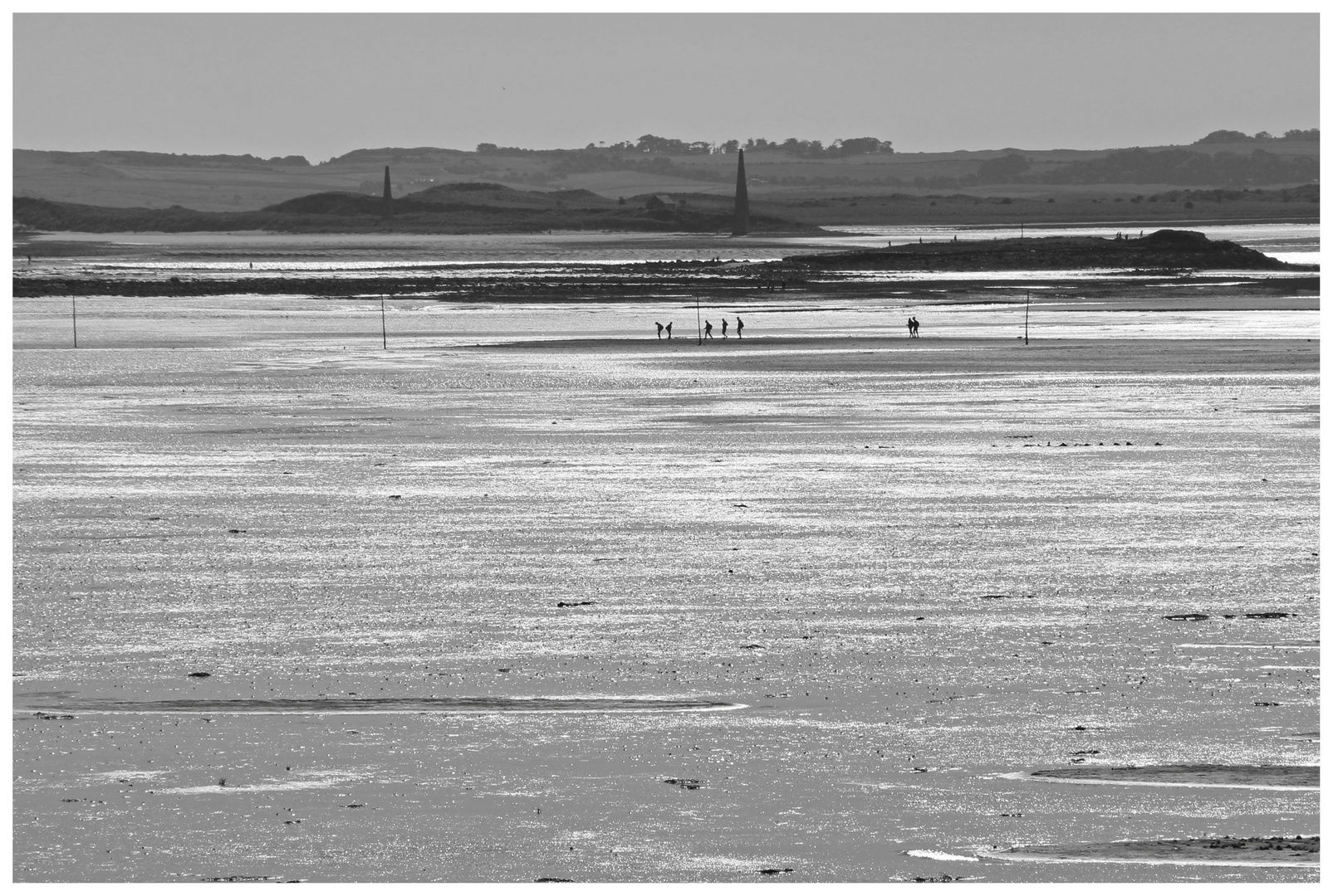 walkers on the pilgrims way Holy island 6