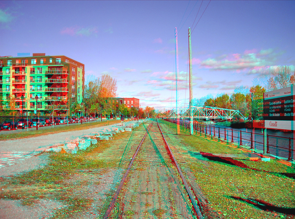 Walking all along the old rails ... (red/cyan anaglyph)