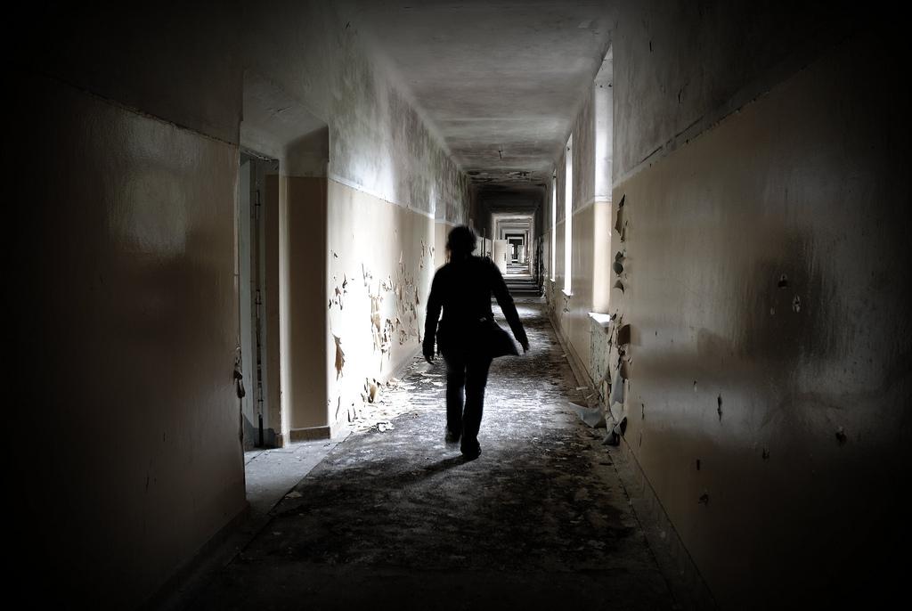 Walking alone...