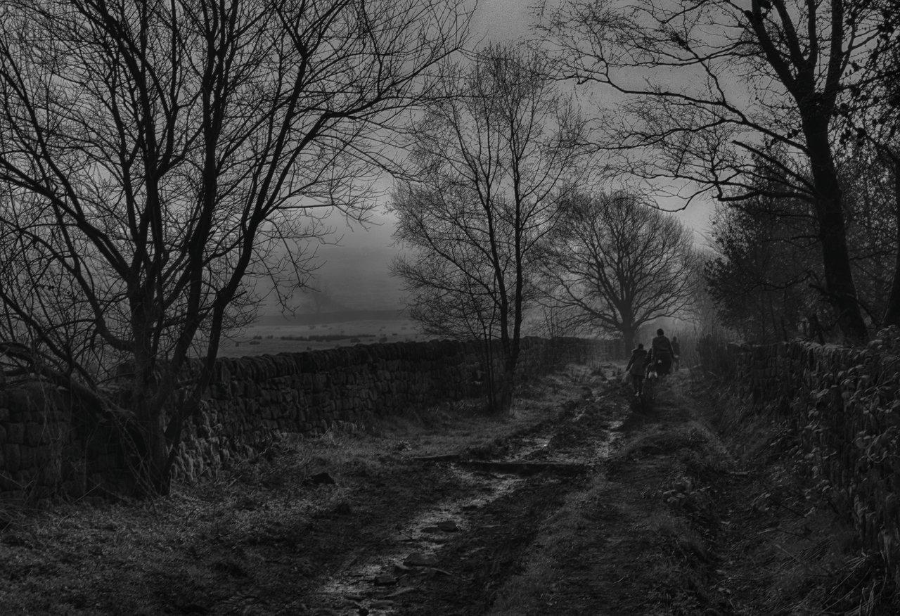 Walking in a Muddy Lane