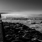 ....walking in front of the sea....