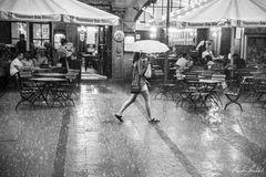 walking in the rain...