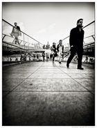 • Walking Millenium Bridge •