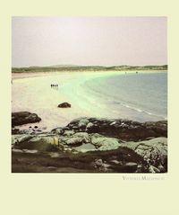 Walking on an irish beach