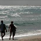 ...walking on the beach...