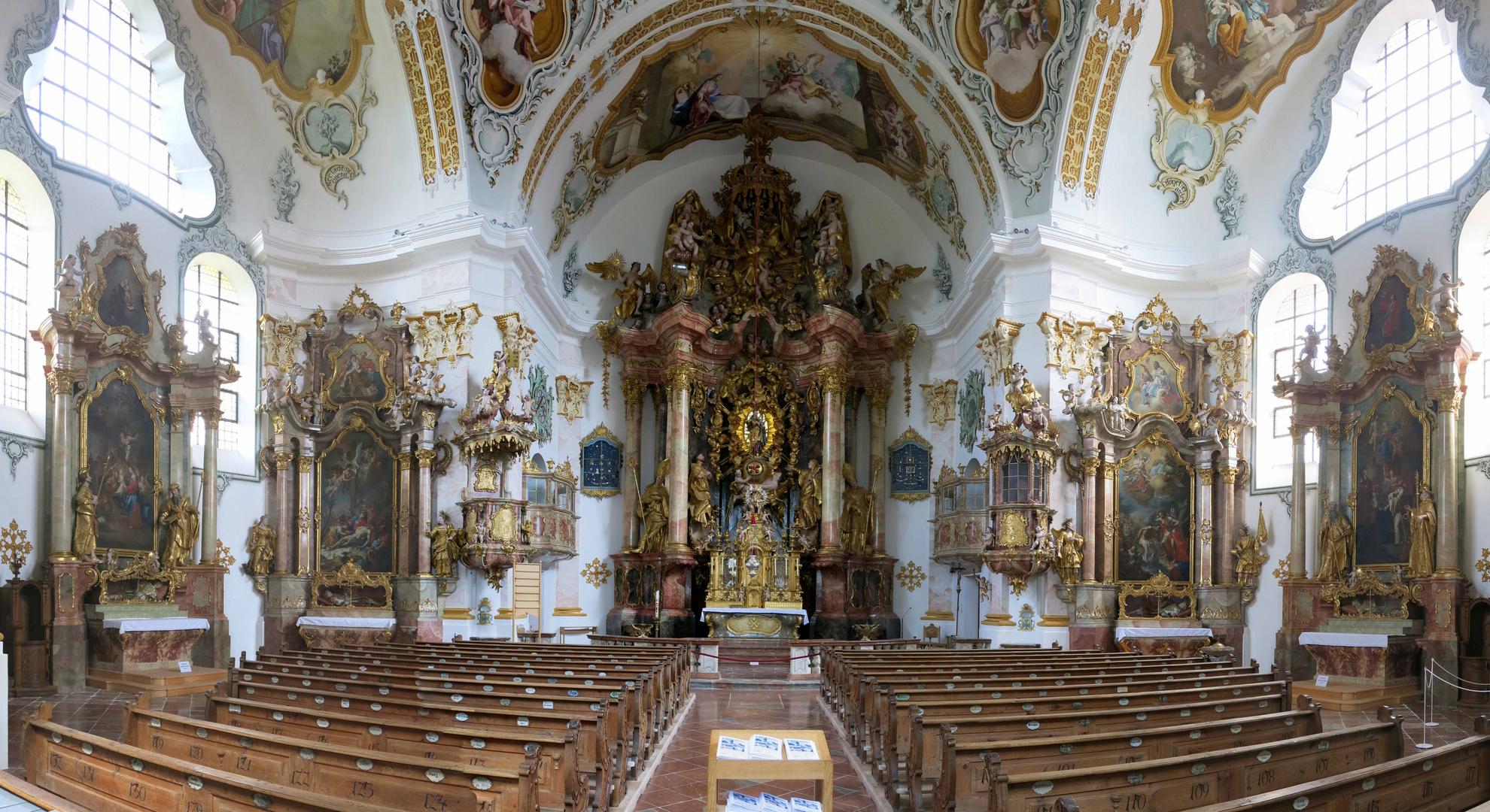 Wallfahrtskirche Marienberg bei Burghausen in Niederbayern