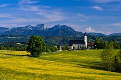 Wallfahrtskirche Wilparting, Wendelsteingebiet, Oberbayern