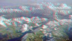 Walliser Alpen Schweiz 3D