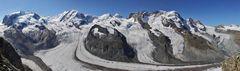 """Walliser Tiefblicke bis zum Gornergletscher, dem ich einen """"guten Winter"""" wünsche..."""