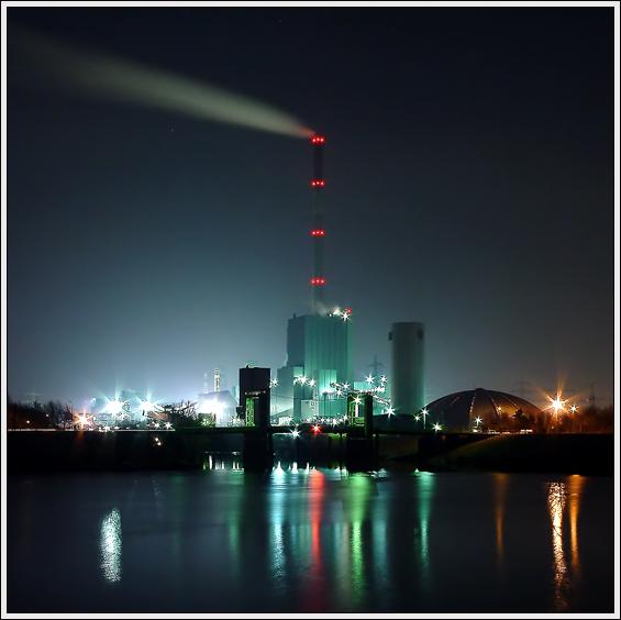 Walsum Kohle bei Nacht