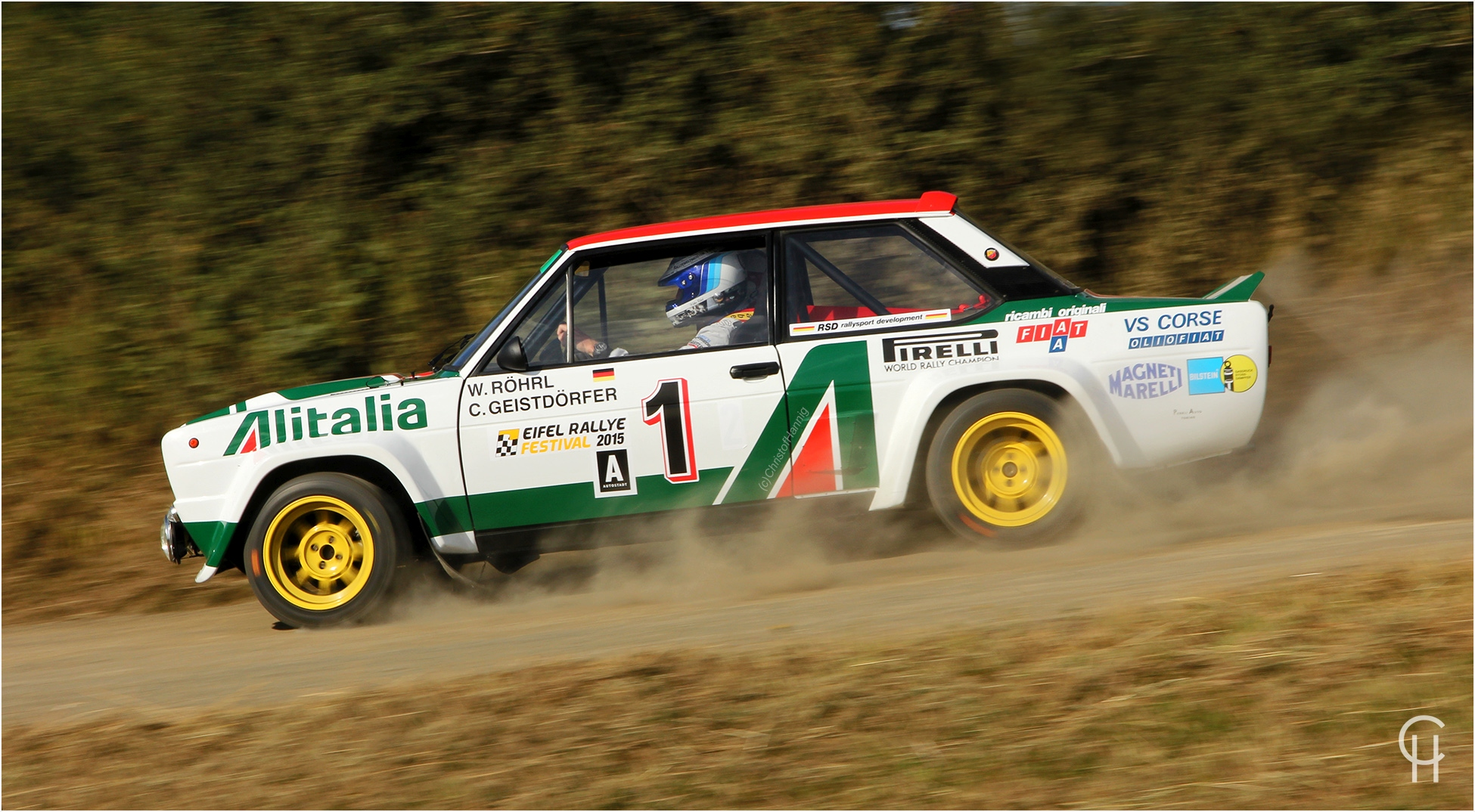 Walter Röhrl im Alitalia Fiat 131 Abarth beim Eifel Rallye Festival